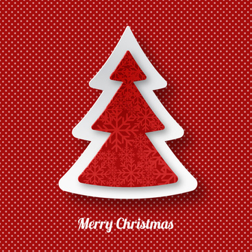 3d christmas tree decoration and red check background