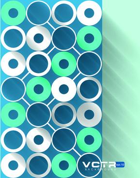 3d circle background design vector