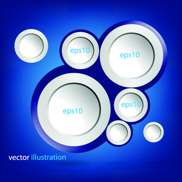 3d circle vector background