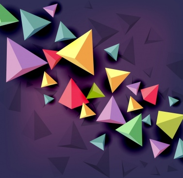 3d colorful geometric background