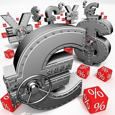 3d currency symbol stock photo
