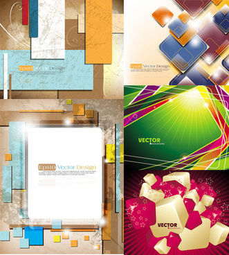 3d dynamic background vector art