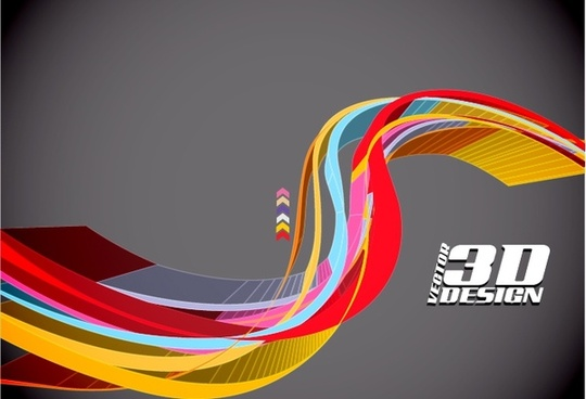 technology background colorful 3d curves sketch
