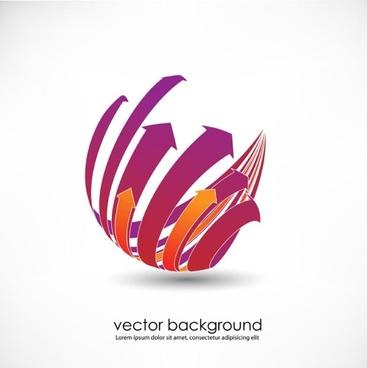 3d dynamic logo01 vector