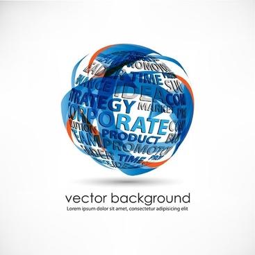 3d dynamic logo05 vector