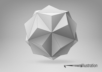 3d geometrical shapes design vector