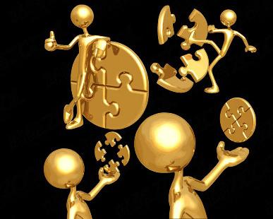 3d golden people vector