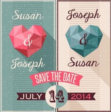 3d heart festival banner creative vector