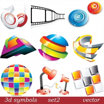 logotypes templates colorful 3d modern design