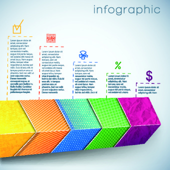 3d infographic and diagram vector set