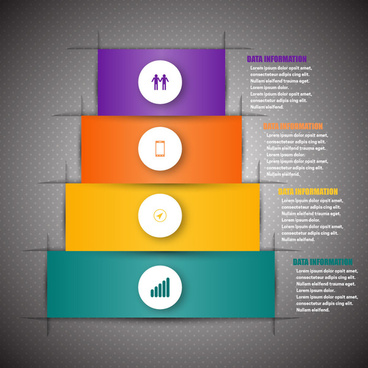 3d infographic vector with abstract tower design