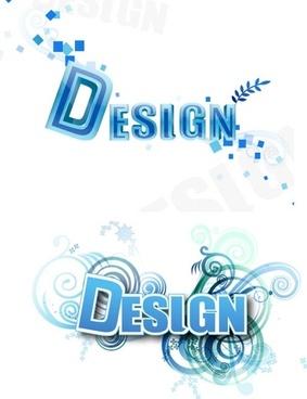 3D Letter Design Vector