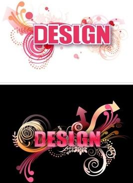 3D Letter Design Vector 2