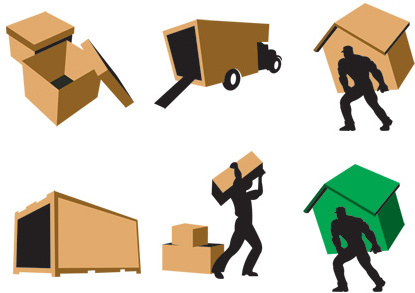 3d movers icon set