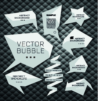3d origami speech bubbles vector