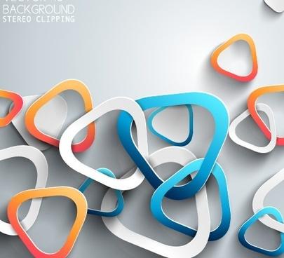 3d paper background vector design