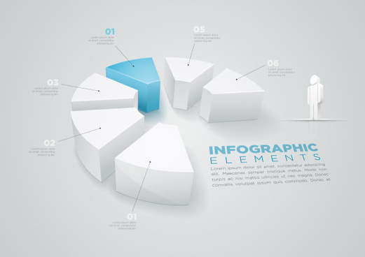 3d people with business infographics vector