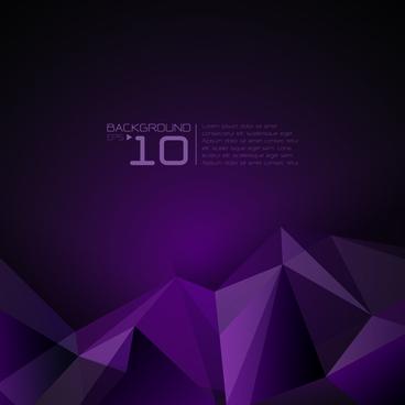 3d polygonal modern background vector
