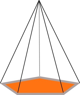 3d Pyramid Outline clip art