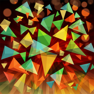 3d rectangle abstract background