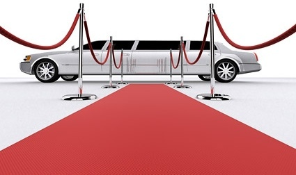 3d red carpet limousine picture
