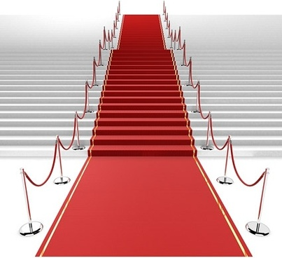 3d red carpet staircase picture