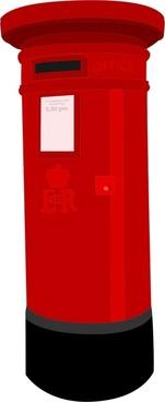 3d red post box vector illustration