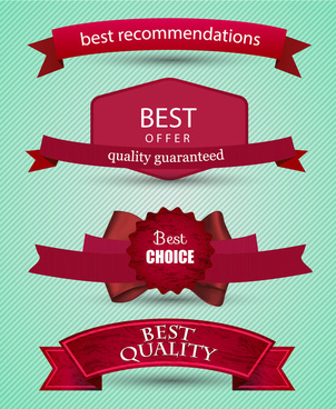 3d red ribbons sets design for products promotion