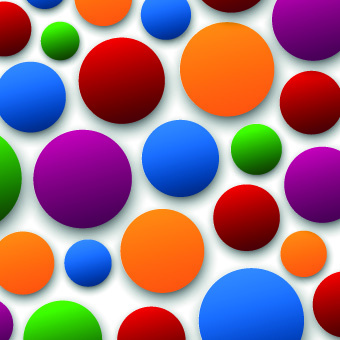 3d shapes background