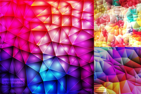 3d shiny colorful vector background