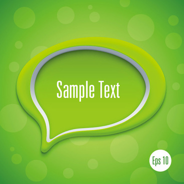 3d speech bubble vector template