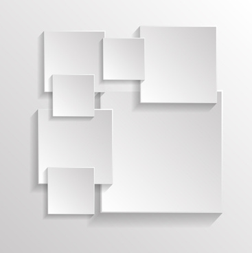 3d square abstract background vector