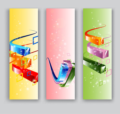 3d square abstract banner