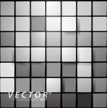 3d squares with background design vector