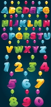 alphabet background colorful modern 3d decor