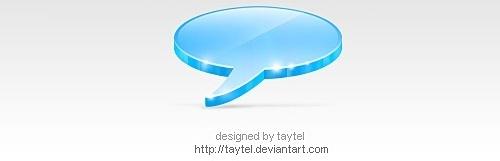 3D Talk icon Free PSD