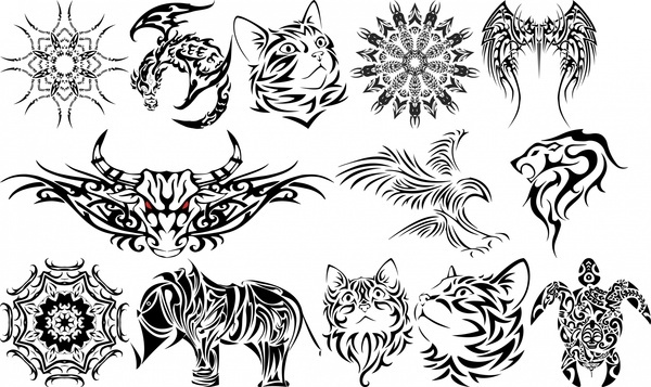 3d tatoo icons collection