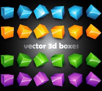 3d threedimensional box vector