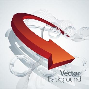 3d threedimensional dynamic arrow vector