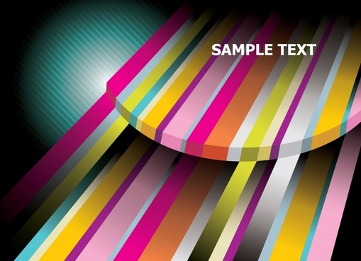 presentation template modern 3d colorful stripes ornament