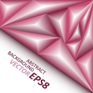 3d triangle geometry shapes background vector