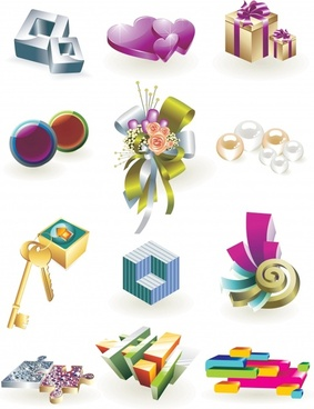 3d vector icons lifestyle