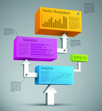 3d vector statistics analytics graphics