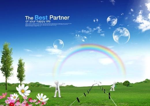 3d angel of the rainbow dream creative design layered