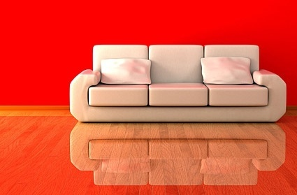 3d white sofa stock photo