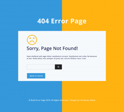 404 error page web template