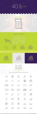 40 free ecommerce vector icons