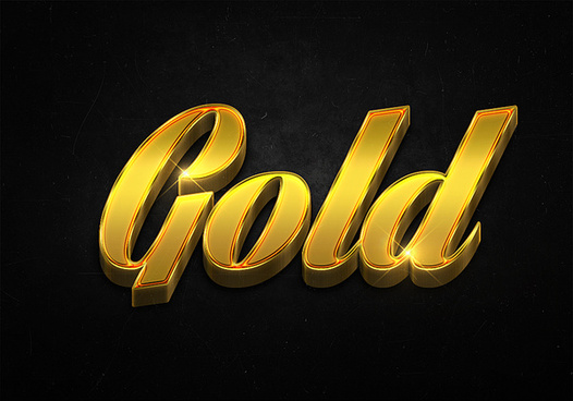 41 3d shiny gold text effects preview