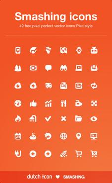 42 kind smashing icons