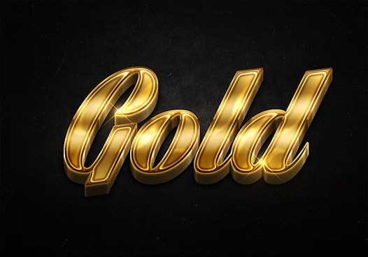 43 3d shiny gold text effects preview